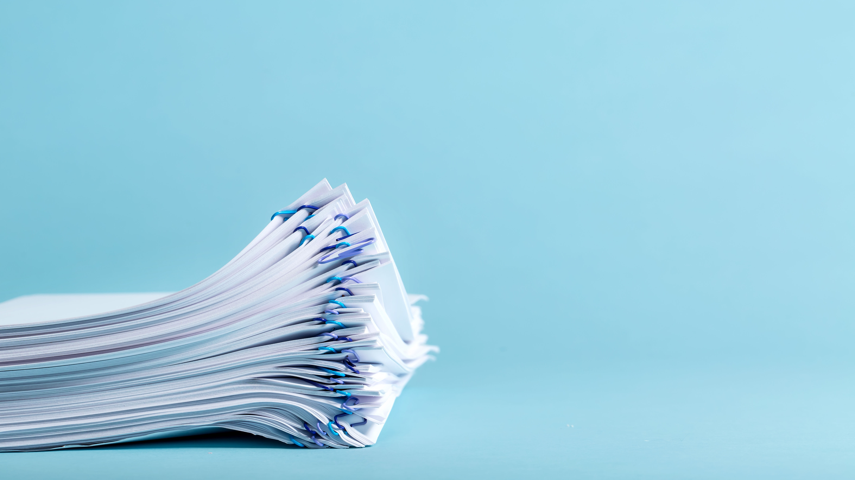 Blue Paperwork