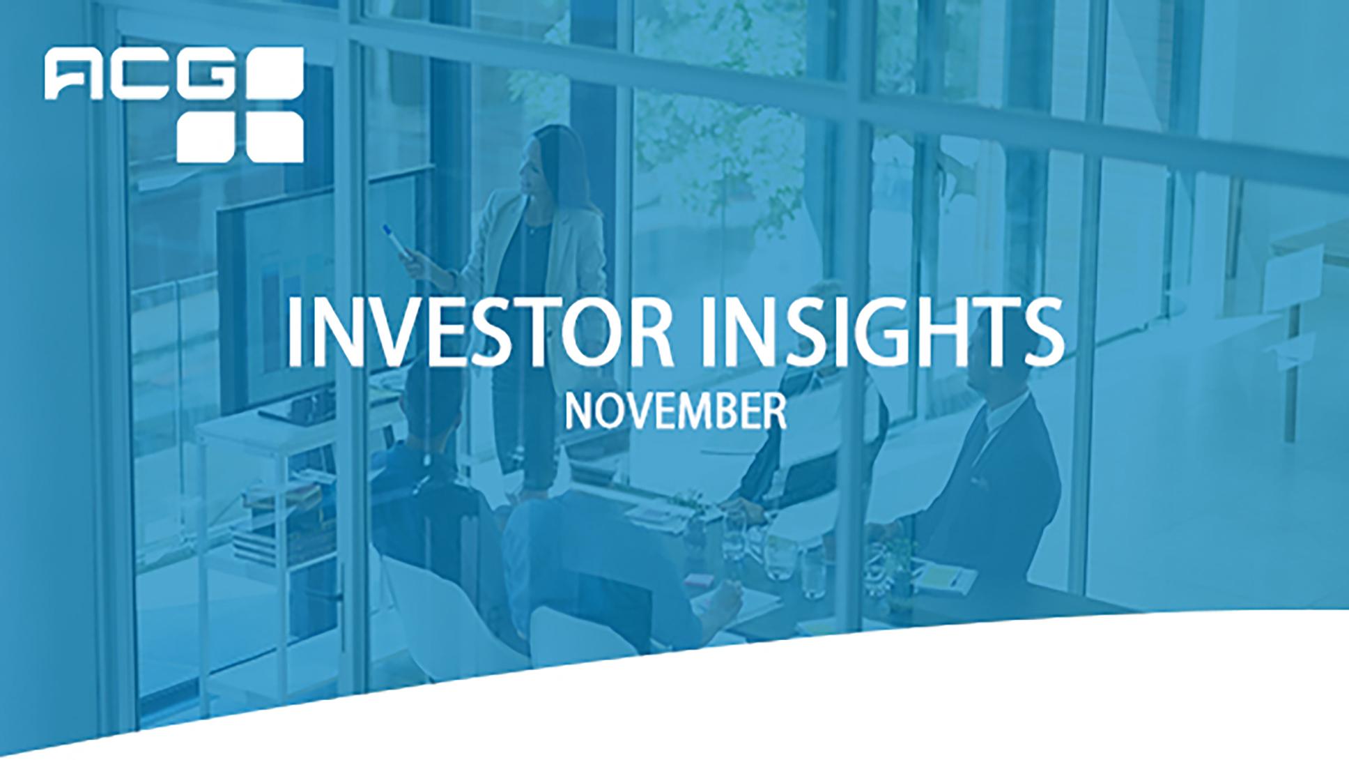 Investor Insights - November 2020